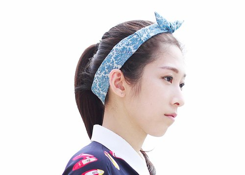 [] The MAMA's Closet denim fabric hair band - Snow