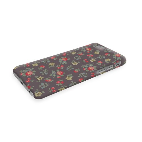 Grey Floral Pattern  3D Full Wrap Phone Case, available for  iPhone 7, iPhone 7 Plus, iPhone 6s, iPhone 6s Plus, iPhone 5/5s, iPhone 5c, iPhone 4/4s, Samsung Galaxy S7, S7 Edge, S6 Edge Plus, S6, S6 Edge, S5 S4 S3  Samsung Galaxy Note 5, Note 4, Note 3,  N
