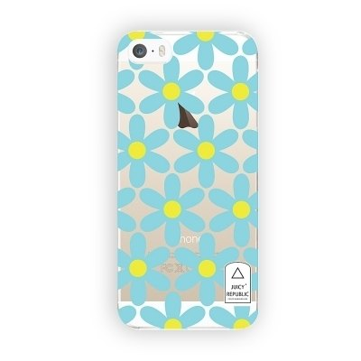 Girl home :: Juicy Republic x iphone 5 / 5s transparent Phone Case - Flower wall