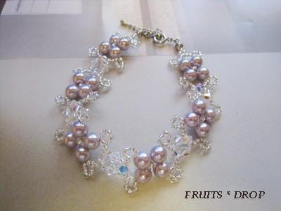 [SALE 50% OFF !!] Pearl & Swarovski breath <SMC: Purple> Wedding