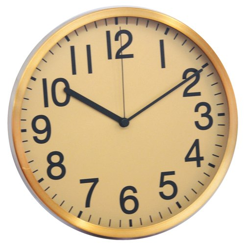 Mod - simple ○ gold leaf clock (metal)