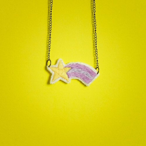 Lucky meteor necklace / shooting star necklace