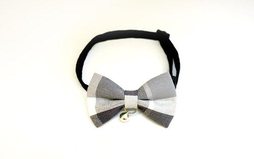 [Miya ko. Grocery cloth hand-made] cats and dogs tie / tweeted / Bow / handsome plaid / pet collar