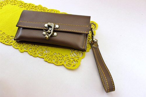 Good feel calfskin - cell phone bag / passport / book / card / document / banknote