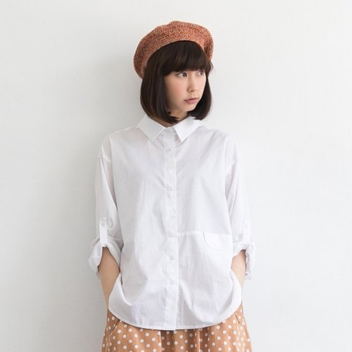 [Children] Xu Xu little short in front long and meticulous modeling shirt (with sleeves hope)
