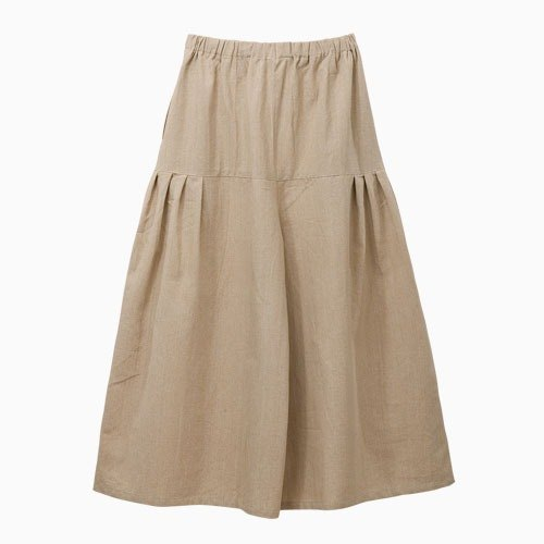 "Earth tree fair trade- ""2015 hand-woven cotton series"" - hand-woven pocket Culottes (Beige)"