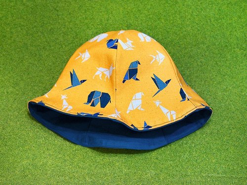 Calf Calf Village Village sided handmade hat cap visor {} secret Lunasika ⊿ geometric animal mango [H-135]