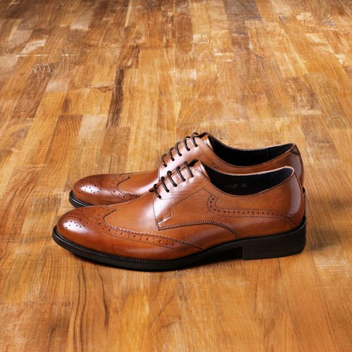Vanger elegant beauty ‧ modern British Shi Brock engraved shoes Va137 classic brown
