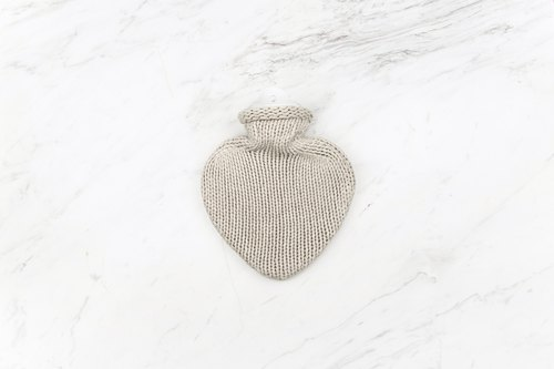 KATRIN LEUZE Kashmir cold hot water bottle - heart-shaped