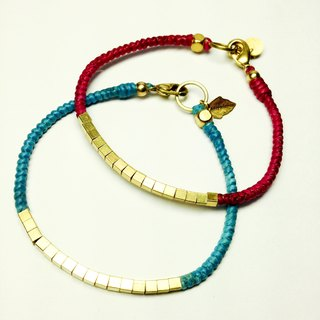 Great BRIC dream ~ ~ Simple light color series ◆ Sugar Nok ◆ Wax line Brass Bracelet