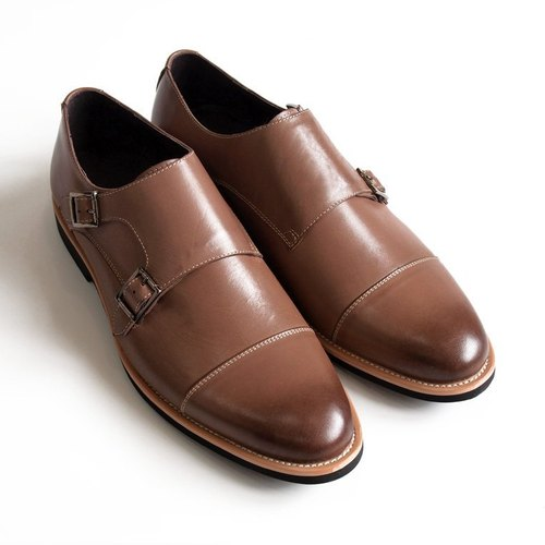 [LMdH] C1B07-89 hand-painted leather nubuck leather shoes Munch open Phut Twill ‧ ‧ brown free shipping