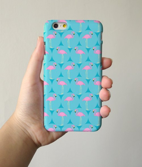 turquoise flamingo 91 - iPhone 手機殼, Samsung Galaxy 手機套 Samsung Galaxy Note 電話殼