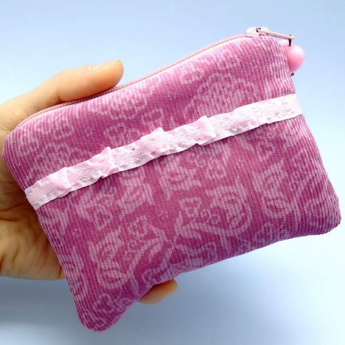 Zipper pouch / coin purse (padded) (ZS-13)