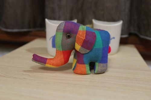 Handmade cloth elephant (small)