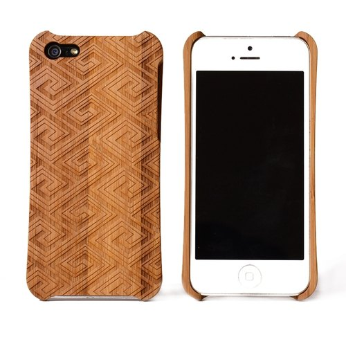 [Top 10 group discount] iPhone 5 / 5S side radian wooden totem class housing _ China _ Moso [motifs]
