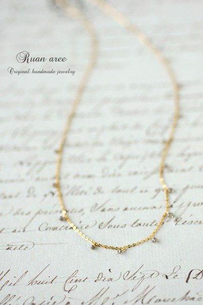 14kgf - Brown diamond necklace