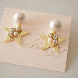 【14kgf】 cotton pearl star pierce