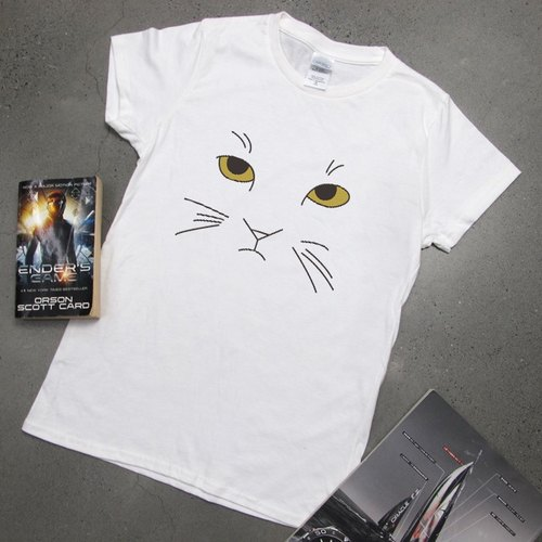 Fashion cat face CatFace cotton cultivating short-sleeved T