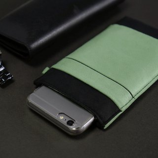 OM【BLACK X COBALT GREEN】ONOR CLEANING-FIBER CELL PHONE POUCH