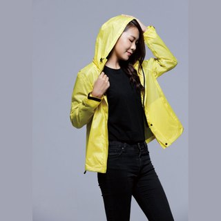 Paris Rainbow ~ simple reflective waterproof raincoat jacket / sun windbreaker / mountaineering / commuter / motorcycle / sunshine yellow men