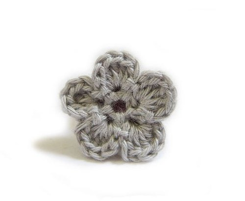 Flower Ring hand-woven iron gray