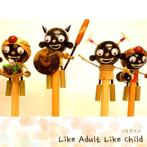 Doll pencil black family