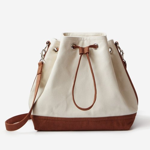 found.it large canvas classic drawstring bucket (shoulder) bag / colors x Chahe
