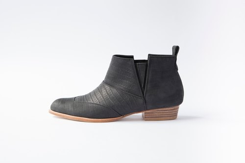 ZOODY / shale / handmade shoes / flat-bottomed boots / black