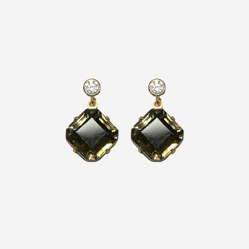 [Indigo] Miss Miss Olive green olive green earrings