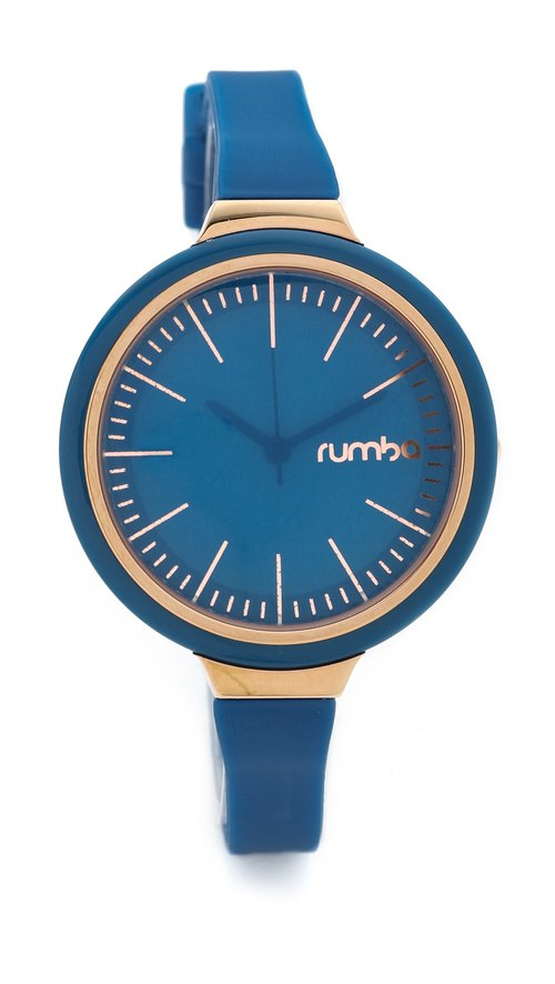 {Rumba Time} in New York fashionable watch brand Orchard Gloss - bright cobalt blue