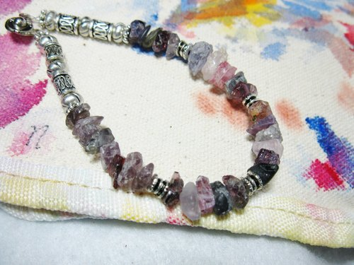 Rough Spinel: Spinel irregular color, natural gemstone crystal bracelet, natural flavor # 02