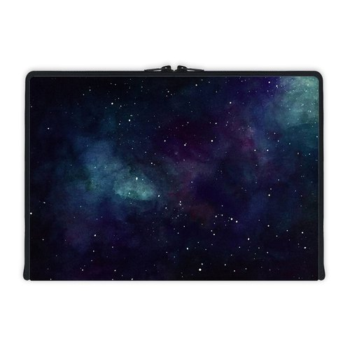 Axis - Custom 3-Sided Zipper Laptop Sleeve - Handpainted Galaxy