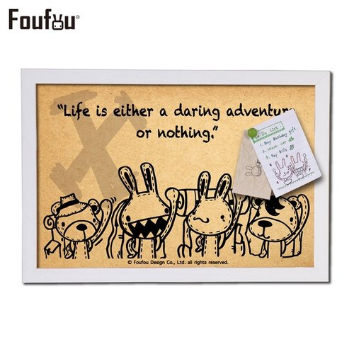 """Foufou"" box painting can also message boards - for a wild adventure"