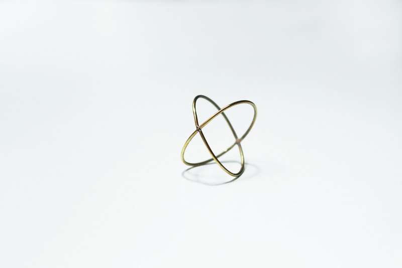 Eternal Series - Interlaced Star Track 14k Gold Ring