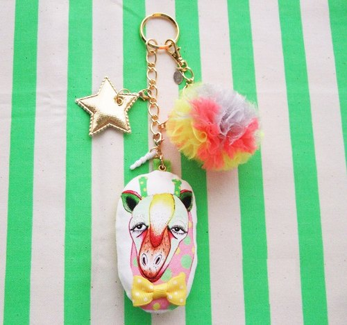 動物包包吊飾 ☆ 長頸鹿 / animal 2way bag charm