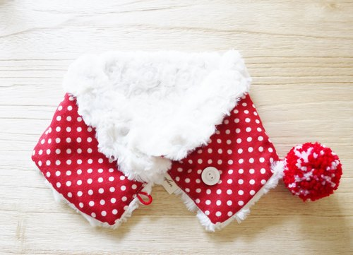Baby warm neck circumference / Scarf - red dots