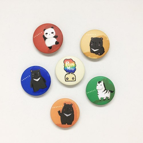PONMIiO 32mm badges Group 1 animals sold longer version 6