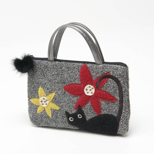 Something New cats small handbag - gray