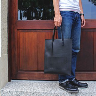 [VULCAN Slim - Tote] Italian 鞣 窄 窄 narrow tote bag portable / shoulder