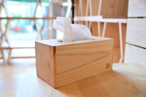 Heart care wooden box (large) | guest laser engraved, soft bag toilet paper