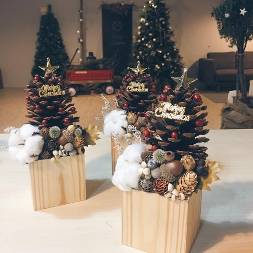 Enjoy life. Pinecone Christmas tree (single Sold)