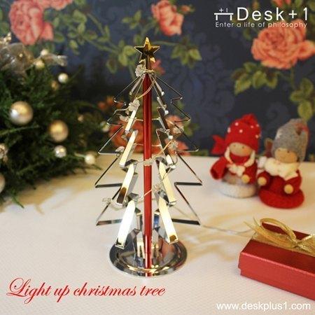 [Desk + 1] lit Christmas tree lighting (night light)