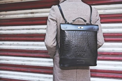 AC Long bag - black crocodile leather models