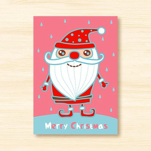 Postcard: Strawberry Santa Claus (Christmas cards, Christmas)