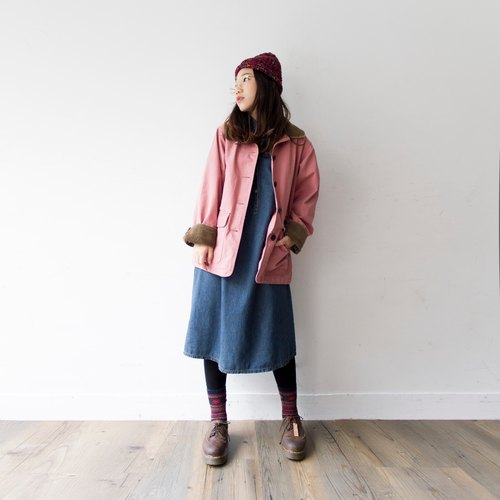 LLBean outdoor Macaron pink jacket casual work