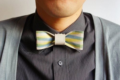 """Four-color classic gentleman tie models"" - chinchilla color blue and yellow stripes subsection (gift / boyfriend / wedding wedding dress wedding feast / tie / tie)"