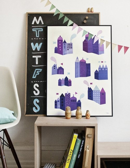 Denmark Michelle Carlslund illustration posters _ Urban Series S
