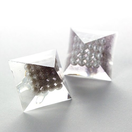 Pyramid earrings (stratum Brown)