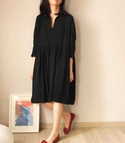 Rangers spirit oversize dress {black} can be used as a maternity dress