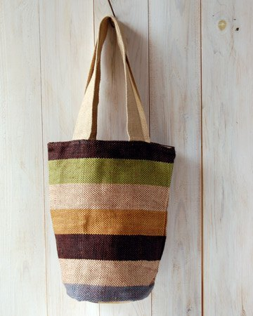 "Earth Tree Fair trade & amp; Eco- ""sack Series"" - horizontal stripes vegetable dyes cylindrical package (Limited only one)"